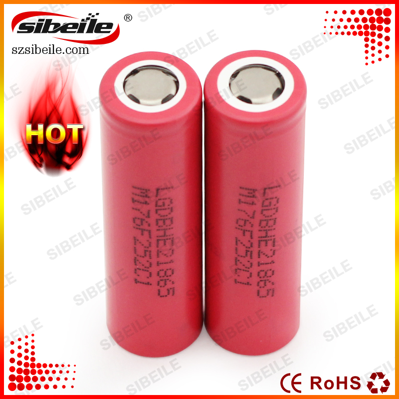 Hot Selling In taiwan !!!3.7V 2500mAh LG 18650 Rechargeable Battery Lghe2 18650 Battery