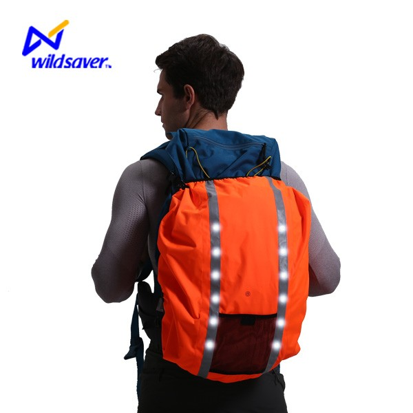 Outdoor Safety Flashing LED Waterproof Bag Cover