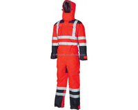 New design high vis work clothing safety reflective working coverall