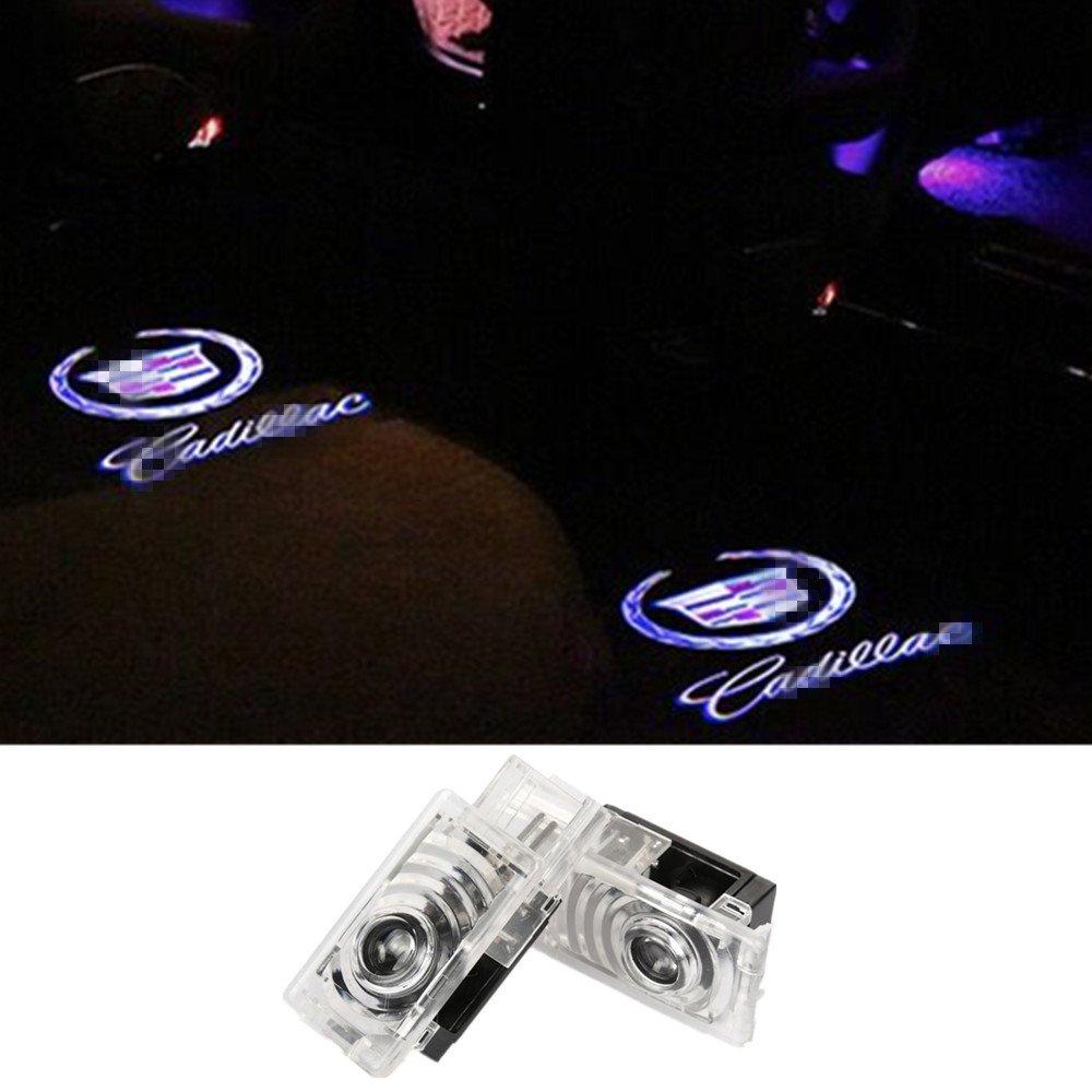 SYAUAWTO Accessories Car Door LED Logo Projector Ghost Shadow Lights For Cadillac SRX 2011-2017 ATS 2014-2017 XTS 2009-2016(2013Except)2 Pcs