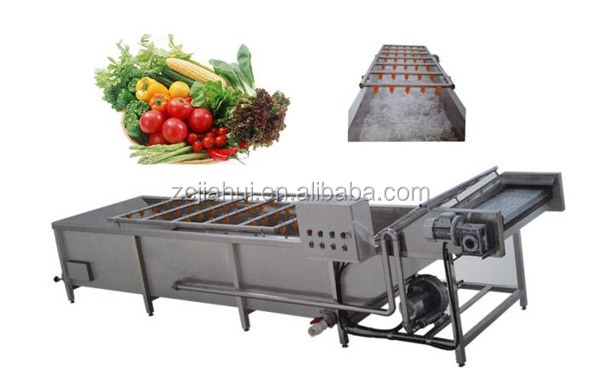 High-pressure spray bubble cleaning machine for vegetables ( Ozone and sterilization can be added)
