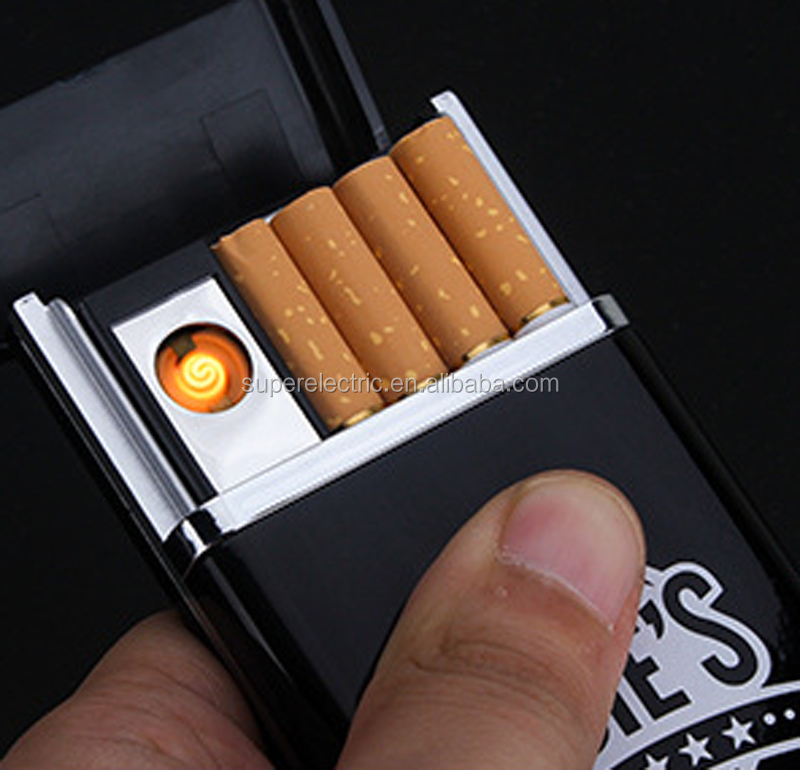 Rechargeable USB Cigarette Lighter With Cigarette Case