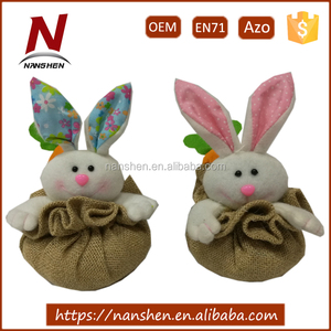 factory hanging burlap bunny for easter decoration