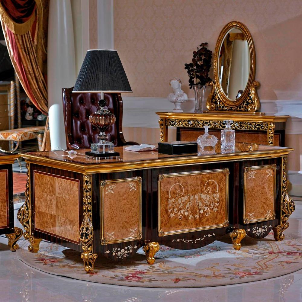 Yb61 Barroco Italia Antiguos Muebles De Oficina Estudio Escritorio  # Muebles Postmodernos