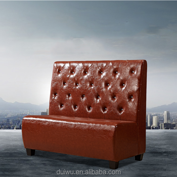 wholesale pu leather sofa booth sets for restaurant
