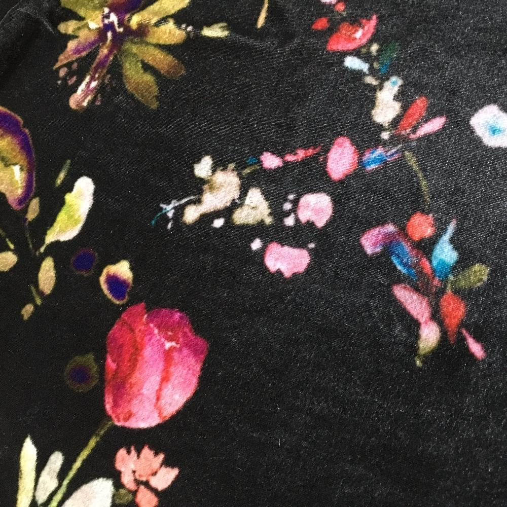 Hangzhou silk velvet digital printing fabric for dress