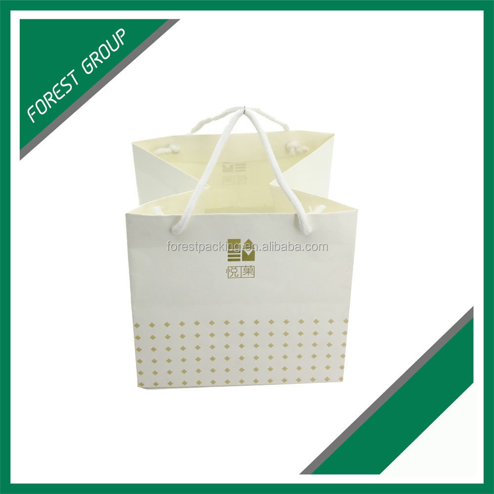 SHOPPING DESIGN SPECIALIZED GLOSSY LAMINATION CUSTOM LOGO PAPER BAGS EUROPEAN MARKET