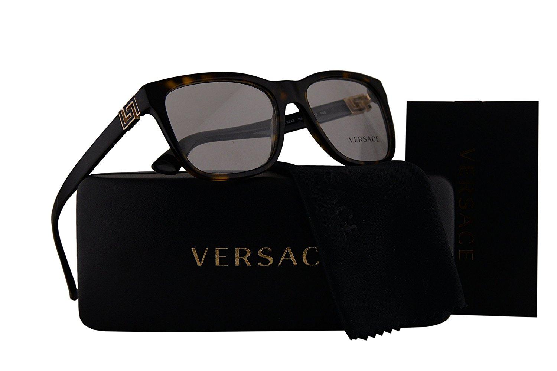 1a61037d2e Versace VE3243 Eyeglasses 53-17-145 Dark Havana w Clear Lens 108 VE