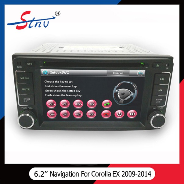 2 Din Wince Car Music Player With Navigation/Bluetooth/SWC For Toyota
