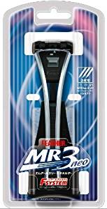 "Japanese Feather Safety Razor Rasor F-system MR3 NEO Holder Made in JAPAN Size : L 200 mm (7.8"") with 2 blades"