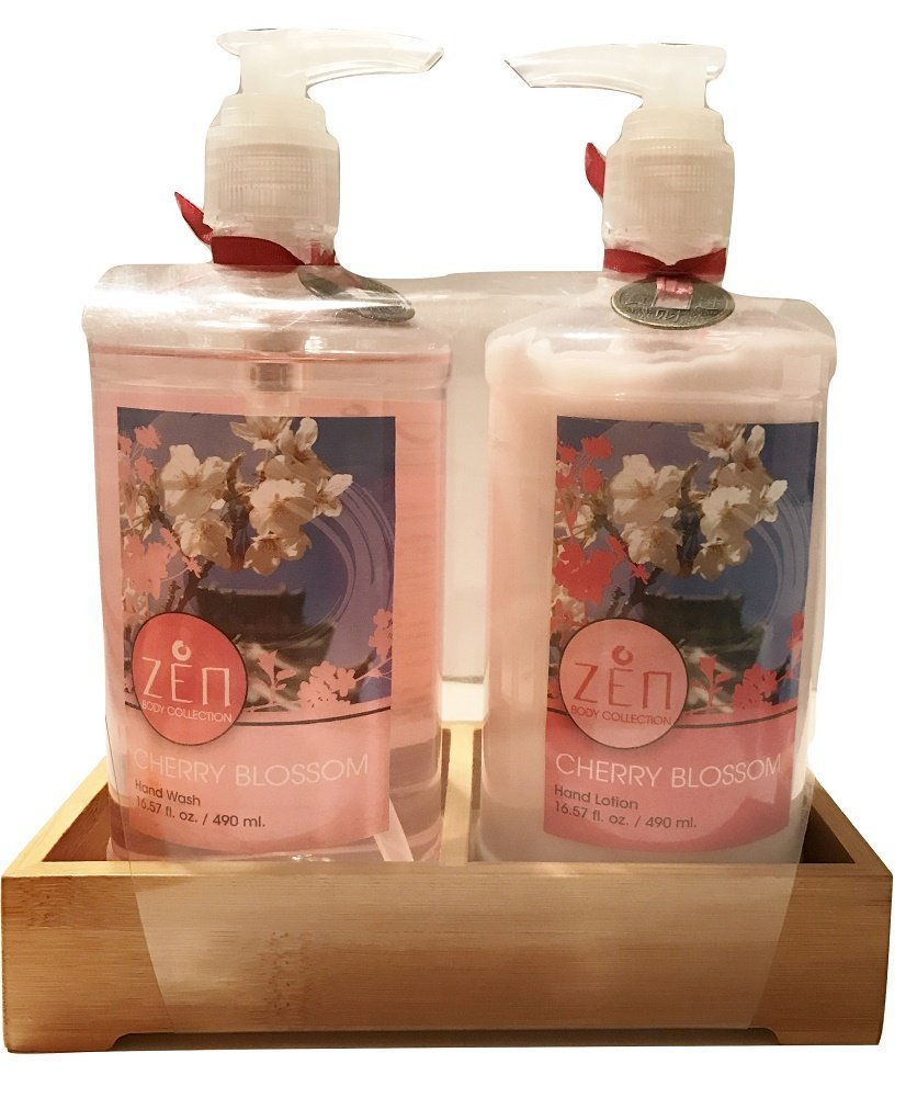 Zen Body Collection Cherry Blossom Hand Care Set, Lotion & Wash