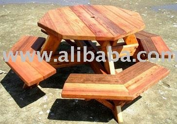 Octogonal Tables De Pique-nique - Buy Tables De Pique-nique En Bois Product  on Alibaba.com