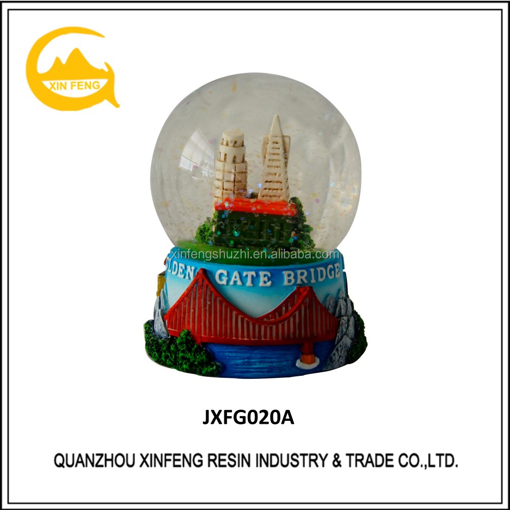 Resin Light house Crystal Snow Globe Water Ball