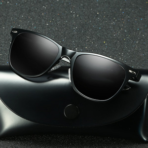 Aluminium Temples Polarized Sunglasses Driving Black Frame Fishing Driving Mirrored Eyewear Male Sun Glasses 2140