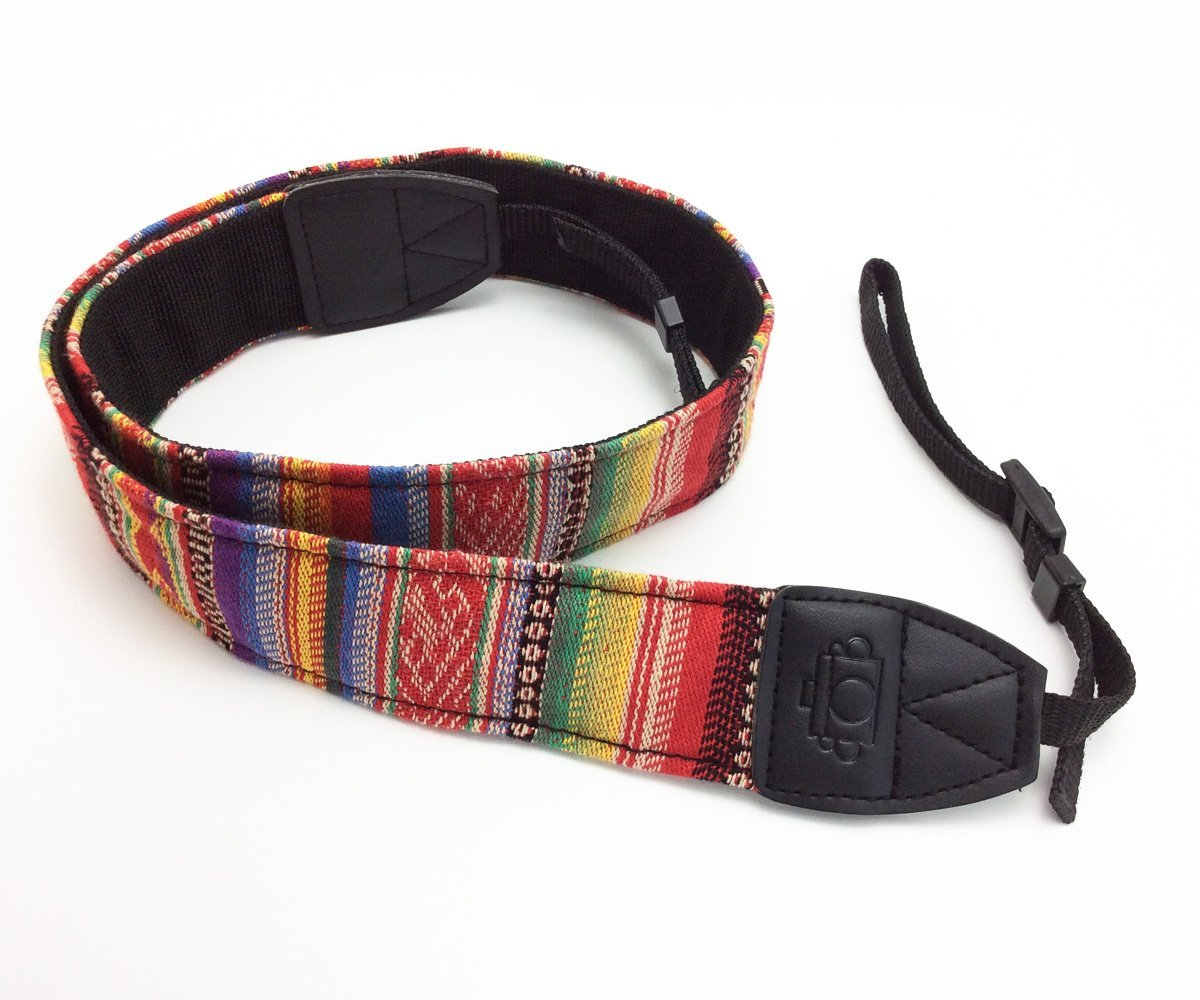 70CM DSLR Camera Strap Neck Shoulder Strap Belt Color Pinstripe Suitable for CANON EOS Rebel T5i T4i T3i T3 T2i T1i XT XTi XSi SL1 DSLR Cameras