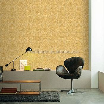 Restaurant Interior Decoration Ideas Golden Wallpaper Luxury Pvc ...