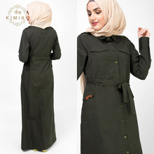 New Model Abaya In Dubai Coat Abaya In Invisible Green Fashion Long Muslim Dresses