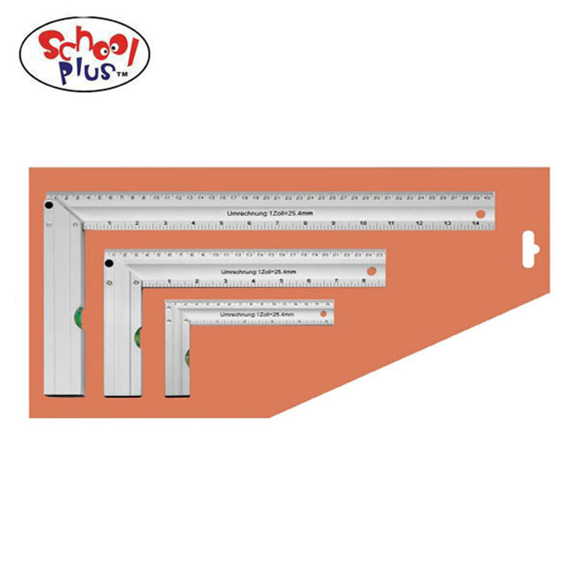 Stainless steel square ruler set