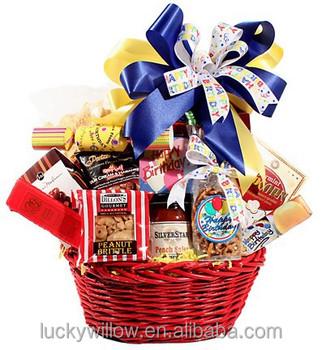 wicker birthday gift baskets
