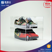 Shoe Box Clear Sneaker Display Case 100% Acrylic 360 Degree View Grails