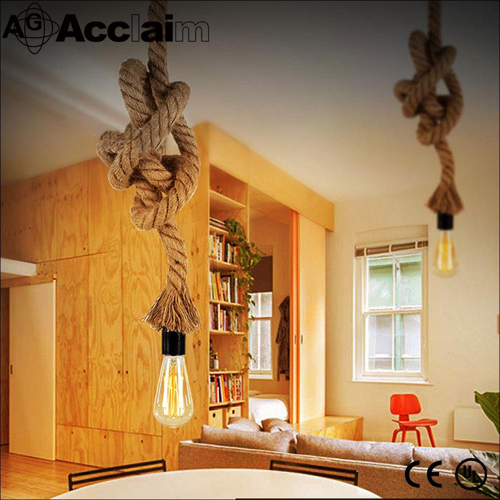 Original american style hanfseil pendelleuchte personalisierten wohnzimmer vintage kronleuchter - Wohnzimmer kronleuchter ...