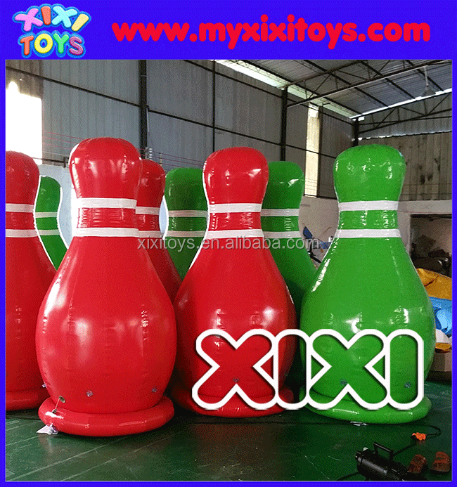 Popular giant inflatable bowling pins, large human inflatable bowling sport game