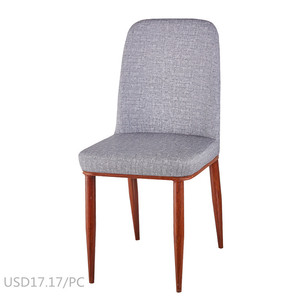 grey fabric staff meeting chair metal wood imitated dining chair for hotel