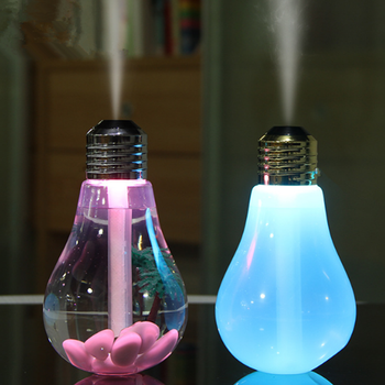 2019 most popular Multifunctional ultrasonic cool mist bulb led humidifier