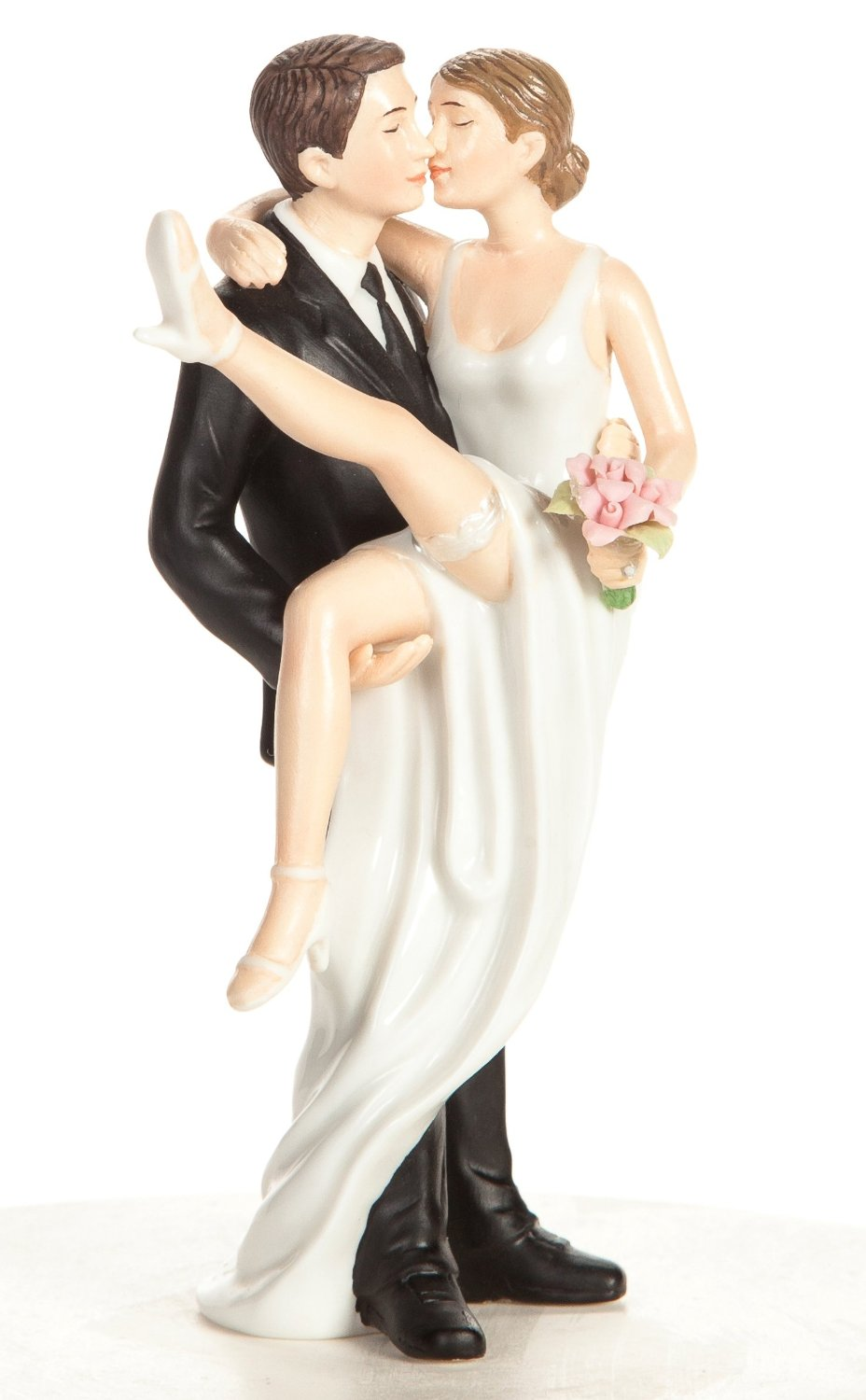 Wedding Collectibles Over the Threshold Wedding Bride and Groom Cake Topper Figurine