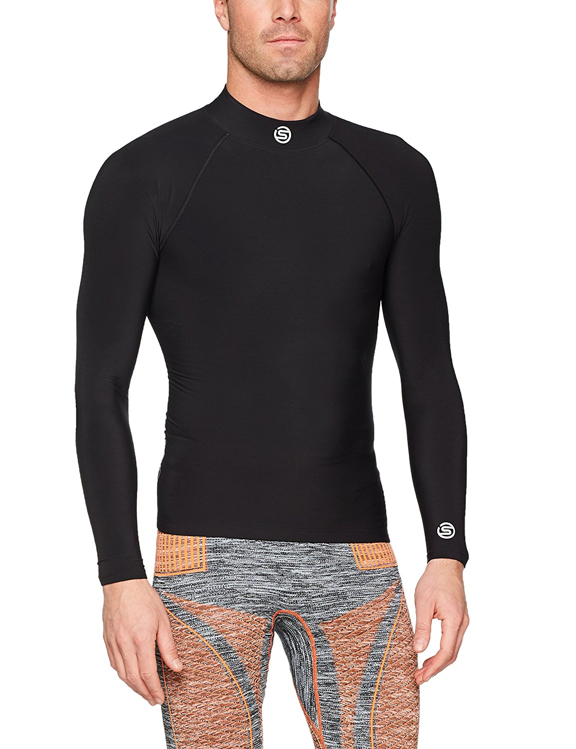 4c8df456ccfdd Get Quotations · SKINS Men s Dynamic Team Thermal L S Mock Neck Compression  Top