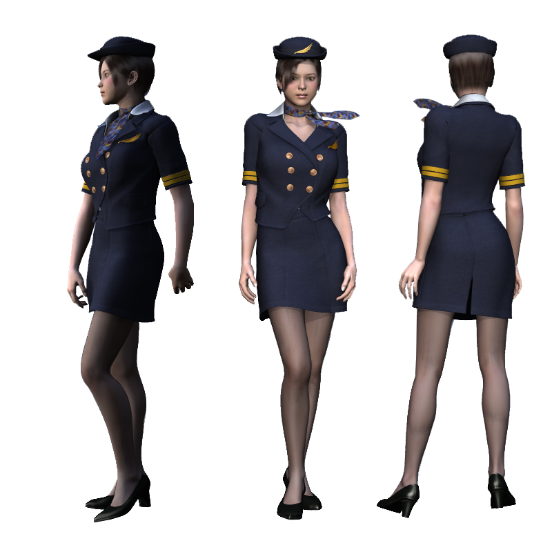 customized airline new styles women's flight attendant uniforms