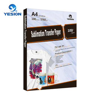 Yesion High Quality A4 Sublimation Paper For Cotton,Mugs,Ceramic  Sublimation Heat Transfer Paper A3/a4 - Buy Sublimation Transfer Paper,Heat  Transfer