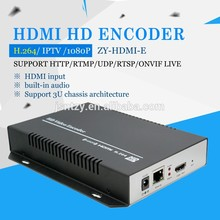 Supports up to 720P, 1080P @ 60HZ HD video input HDM I Encoder H.264 Ethernet