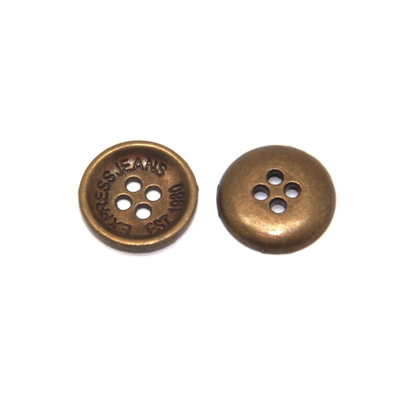 Jean jacket metal buttons metal coat buttons outerwear used clothing  button, View Garment Accessories Metal Jean Button with Customized Logo, MS