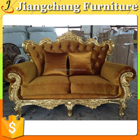 High Quality French Romantic Design Sofa Fabric Furniture Antique/Modern Living Room