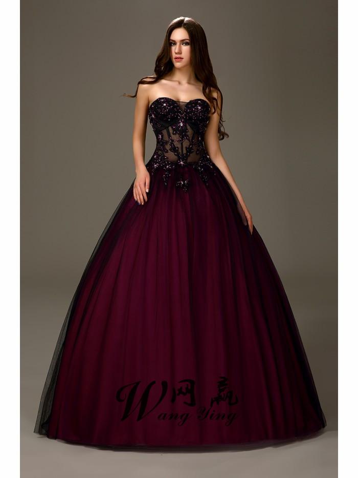 Lila Prinzessin Prom Kleid Werbeaktion-Shop für ...