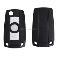 3 Buttons Replacement Shell Black and White Remote Key Case Folding Car Key for BMW