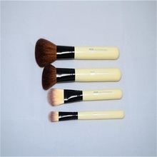 Makeup brush set 4 pcs custom logo brush set with goat hair