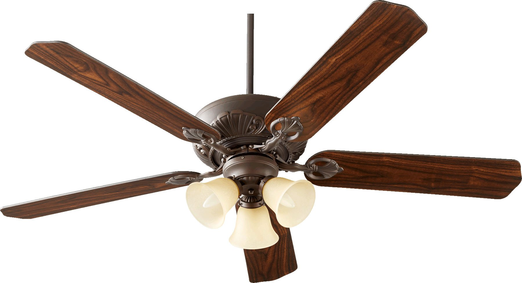 "Quorum 78605-1786, Chateaux Uni-Pack Oiled Bronze 60"" Ceiling Fan with Light"