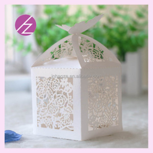 Laser cut butterfly candy box decoration fan wed paper butterfly TH-85 Haoze Brand