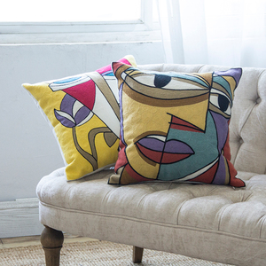 Pillowcases Personalized Picasso Style Full Of Sofa Cushions Set Home Creative Pattern Embroidered Picasso Cushion Cover