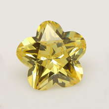 Color play flower shaped zirconia stone synthetic cz