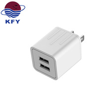 2018 hot new products 2 ports 5v 2.1a usb wall charger