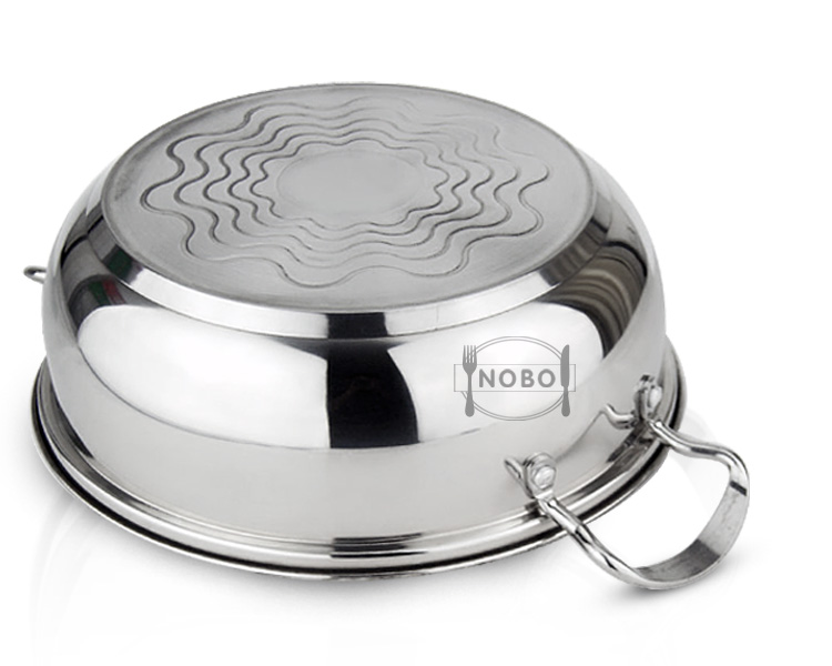 Cheap bulk sale master chef induction cooking stainless steel hot pot with glass lid