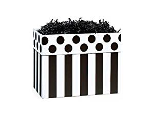 "SMALL DOMINO ALLEY Basket Boxes6-3/4x4x5"" (5 unit, 6 pack per unit.)"