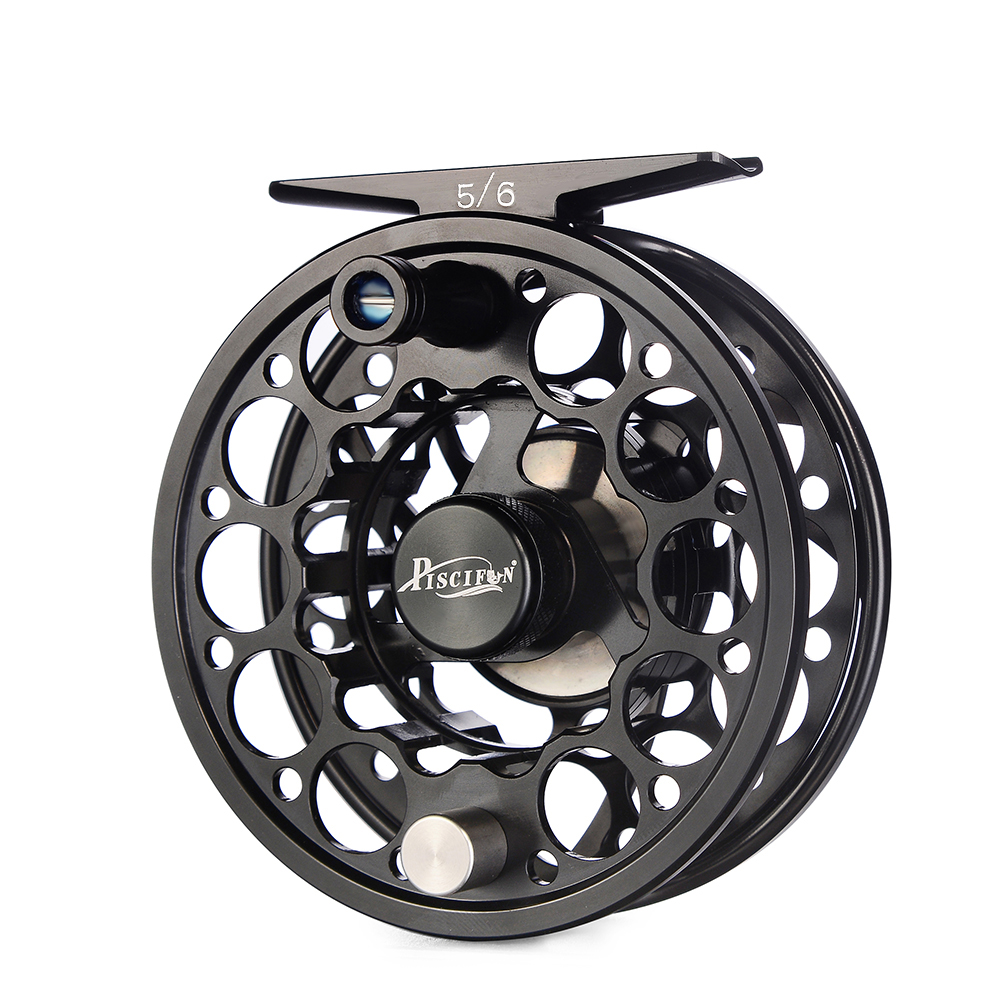Piscifun Sword CNC-Machined Aluminium Material Right Left Handed cnc Fly Fishing Reel, Green/black/pink