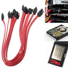 5Pcs 40cm ATA SATA to SATA Serial RAID Data HDD Hard Drive Disk Straight Signal Cables