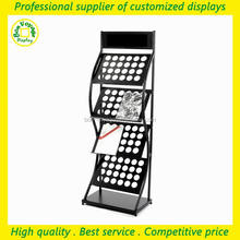 free standing 4 tiers metal tabloid newspaper display stand