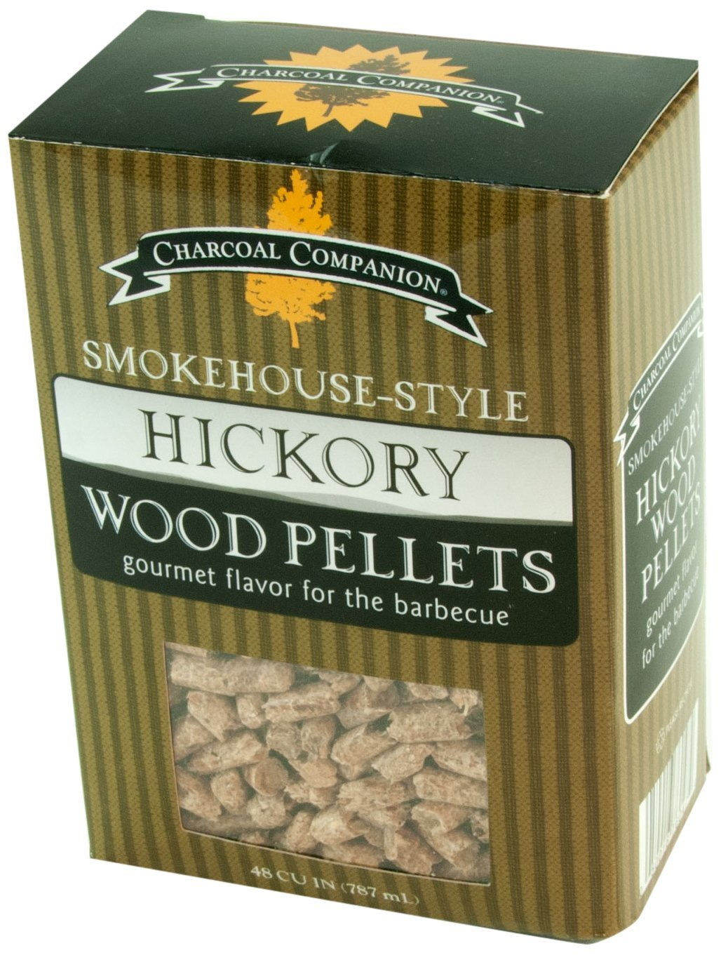 Charcoal Companion Smokehouse-Style Wood Pellets 1 lb (Hickory) - CC6047