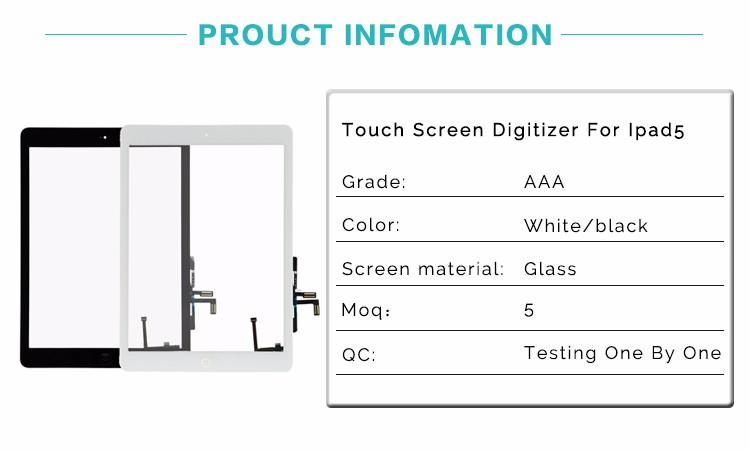 Ex-Factory Price High Quality Touch Screen For Ipad 5 For Replacement